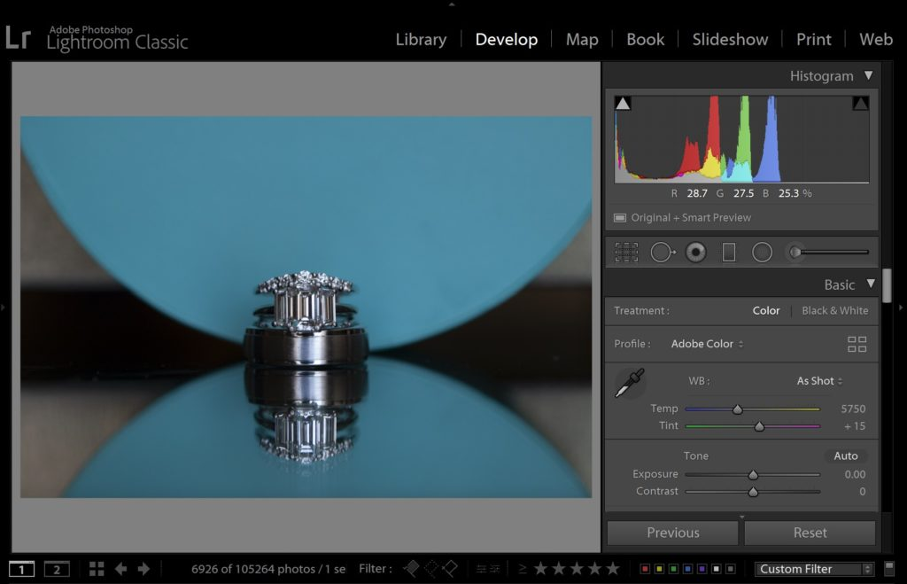 how to read a histogram in lightroom