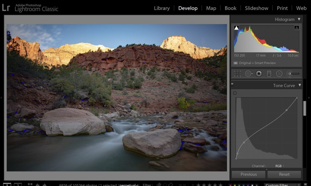 how to read a histogram in lightroom 3