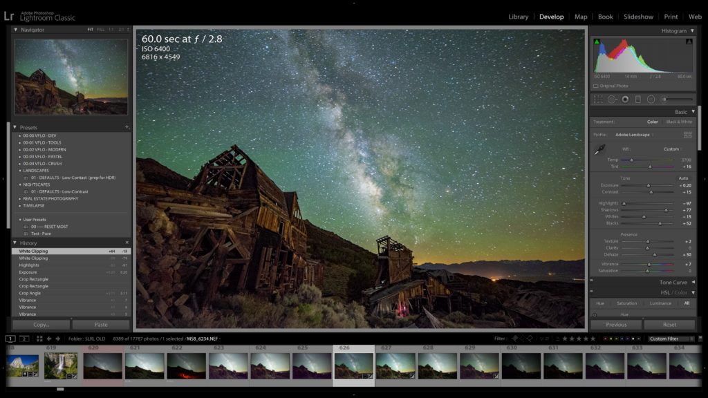 lightroom develop module basic sliders tutorial