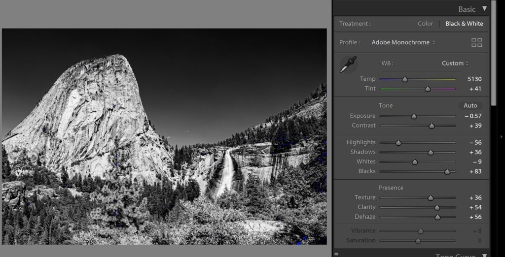lightroom develop module tutorial black and white